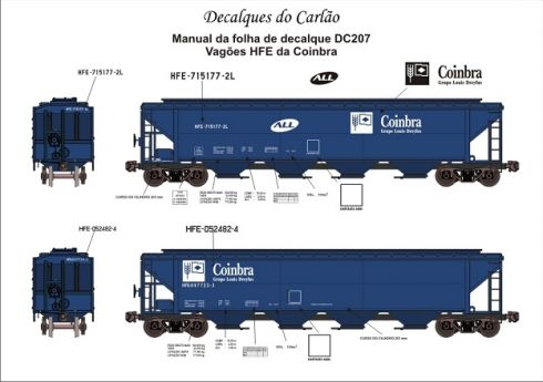 Decal Vagão Hopper ALL / COINBRA - CARLÃO - DC207