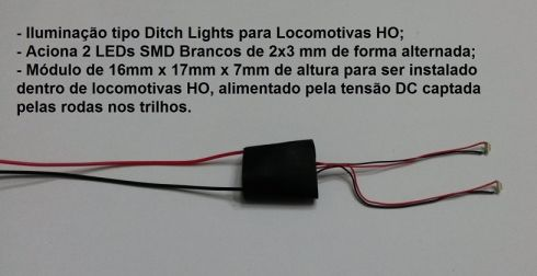 Ditch Lights para Locomotivas - ARK TRENS - ATDL1  - foto 1