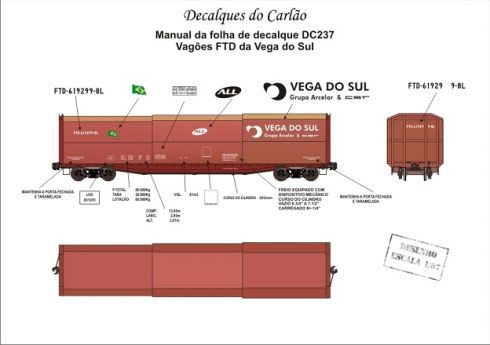 Decal Vagão Fechado ALL VEGA DO SUL - CARLÃO - DC237
