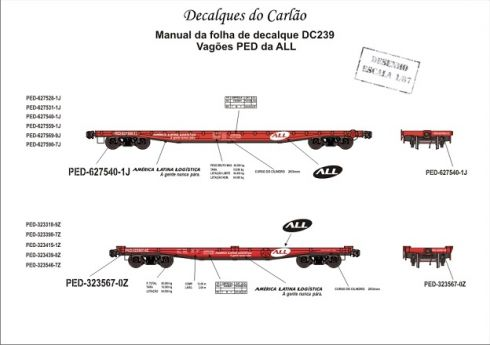 Decal Vagão Plataforma ALL - CARLÃO - DC239