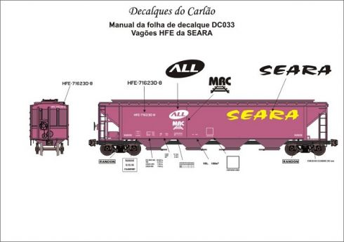 Decal Vagão Hopper SEARA - CARLÃO - DC033