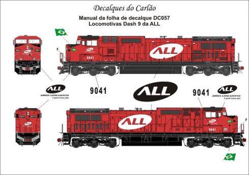 Decal Locomotiva ALL DASH 9 - CARLÃO - DC057