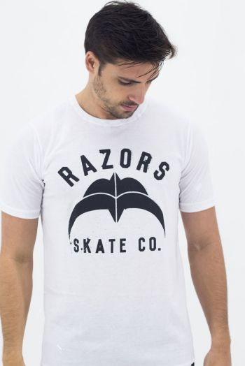 Camiseta Razors Skate CO. Branca