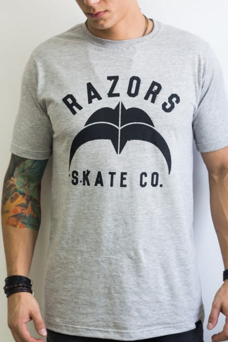 Camiseta-Razors-Skate-CO.-Cinza