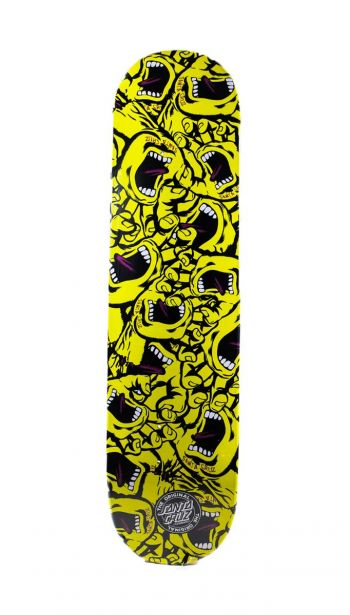 Shape Santa Cruz Screaming Hand Mash Up Tam: 8.2 Amarelo