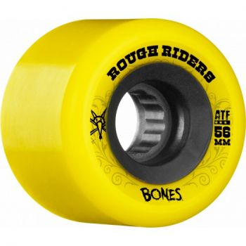 Roda Skate Bones Rough Rider 56mm Amarelo