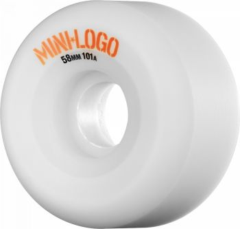 Roda Skate Mini Logo 101A A-CUT 58MM Branca