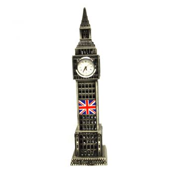 Miniatura Relogio Big Ben Londres em Metal 18 cm Decorativo