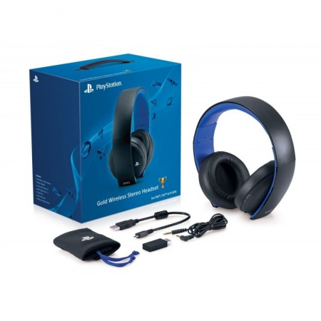 HeadSet Sony Gold 7.1 Wireless PS4/PS3  - foto principal 1