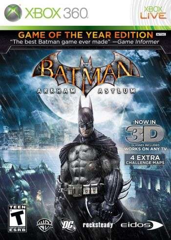 Batman Arkham Asylum 3D Game of the Year Edition - Xbox 360