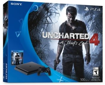Playstation 4 Slim 500 GB+Jogo Uncharted 4