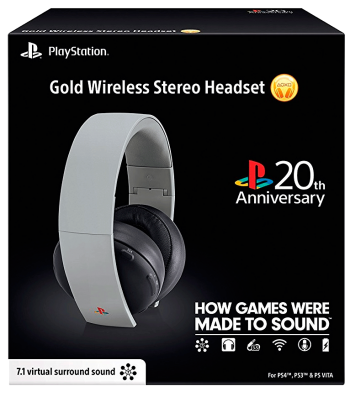 HeadSet Sony Gold 7.1 Wireless - PS4/PS3 /PS Vita