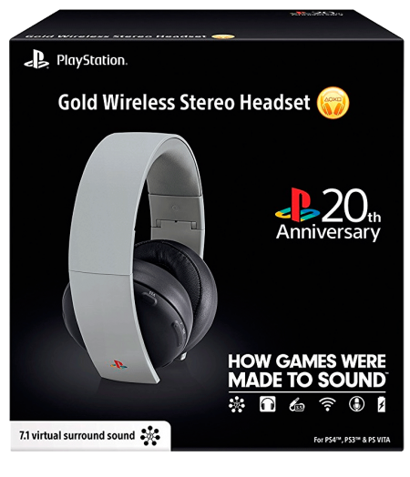 HeadSet Sony Gold 7.1 Wireless - PS4/PS3 /PS Vita  - foto principal 1