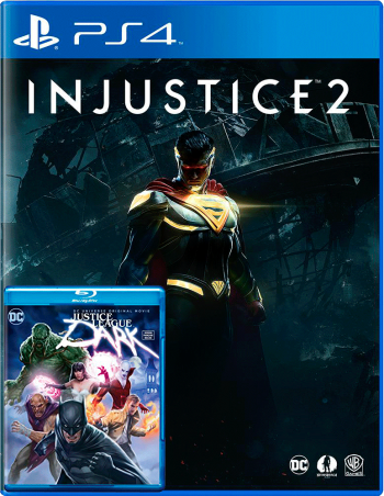 Injustice 2 com bluray Liga da Justiça Sombria - PS4