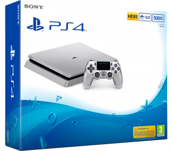Playstation 4 Slim 500 GB Prata