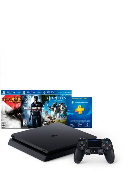 Playstation 4 Slim 500 GB+3 Jogos  - foto principal 2