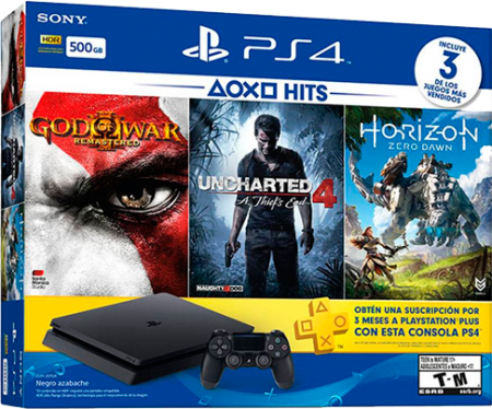 Playstation 4 Slim 500 GB+3 Jogos  - foto principal 1