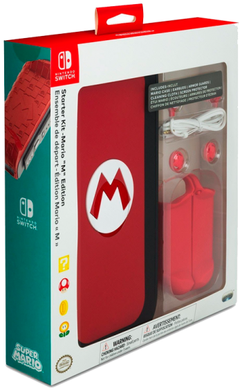 Nintendo Switch Starter Kit Mario ''M''  - foto 5