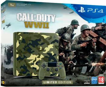Playstation 4 Slim HD 1TB +Jogo Call of Duty WW II