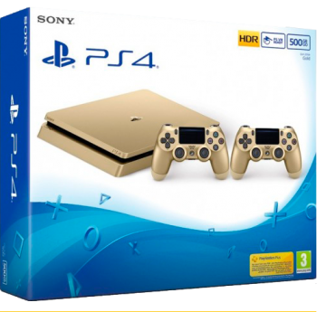 Playstation 4 Slim Gold 500GB com 2 Controles