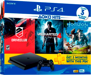 Playstation 4 Slim 500GB+3 Jogos+3 Meses PSN