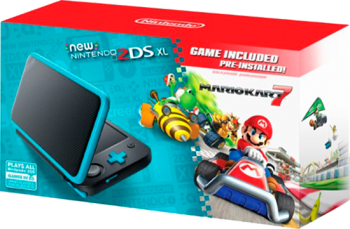 New Nintendo 2DS XL com Mario Kart