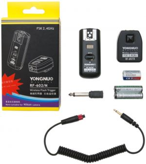 Kit Disparador de Flash Remoto Yongnuo RF-602N para cameras Nikon (Radio Flash, Wireless Flash Trigger)