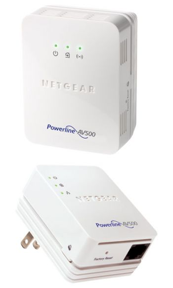 Access Point NETGEAR CPL POWERLINE 500 COM WIFI 2 ADAPTADORES