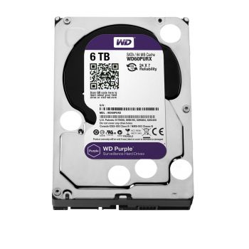 HD Interno WD Purple 6TB (Ideal para vigilância): WD60PURX