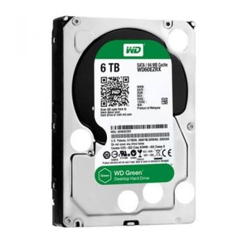 HD Western Digital Green 6 TB, SATA 3,  64MB Cache - WD60EZRX