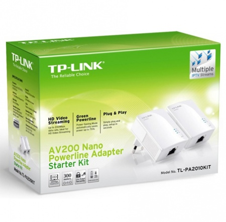 AV200 Nano Powerline Adapter Starter Kit TL-PA2010KIT  - foto principal 1