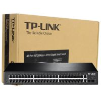 Switch 48-Portas 10/100Mbps + 4-Portas Gigabit Smart Switch TL-SL2452