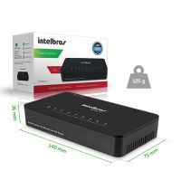 Switch 08 Portas Intelbras SF 800Q+ 10 100 Mbps Poe Passivo