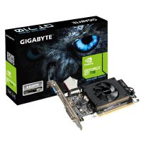Placa de Vídeo VGA GigaByte GeForce GT 710 1GB DDR3 PCI-E