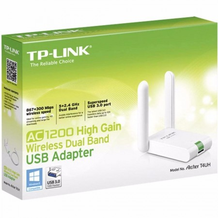 Tp-link Archer T4uh Ac1200 Dual Wifi Band Usb Adapter  - foto principal 4