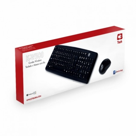 Teclado E Mouse Wireless C3tech K-w500bk Preto  - foto principal 2