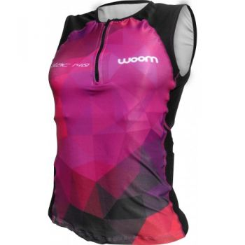 TOP TRIATHLON WOOM 140 LILAC FEMININA