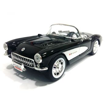 MINIATURA CHEVROLET CORVETTE 1957 ROAD SIGNATURE 1/18  - foto 9