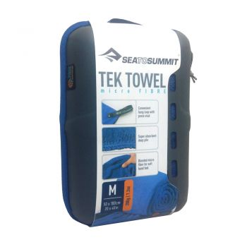 TOALHA TEK TOWEL SEA TO SUMMIT MEDIUM AZUL