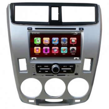 DVD + GPS + PIP + Tela de 7'' HD TFT + Touchscreen + Bluetooth + TV - Honda City - 08+