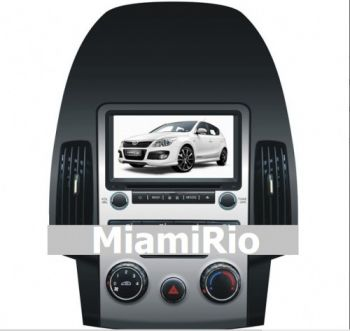 DVD + GPS + IPod + Tela de 7'' HD TFT + Touchscreen + Bluetooth + TV - Hyundai i30