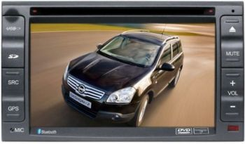 DVD + GPS + Tela de 6.2'' TFT + RDS + Ipod + USB + Touchscreen + Bluetooth + TV - Nissan X-Terra