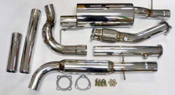Escapamento Catback + DownPipe 3'' INOX VW Golf MK4 1.8T - 1999 a 2012