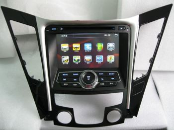 DVD + GPS + IPod + Tela de 7'' HD TFT + Touchscreen + Bluetooth + TV - Hyundai Sonata 2011