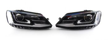 Farois Black LED Projetor VW Jetta MK6 - 2011+