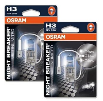 Lâmpadas OSRAM Night Breaker Unlimited H3 - 55W