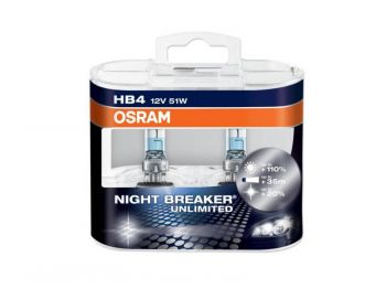 Lâmpadas OSRAM Night Breaker Unlimited HB4 - 51W