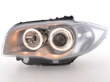Farois Projetor Chromo Angel Eyes BMW E82 E88 118i 120i - 2004 a 2012