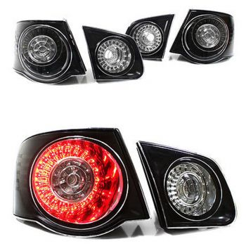 Lanternas LED Black VW Jetta MK5 - 2006 a 2009