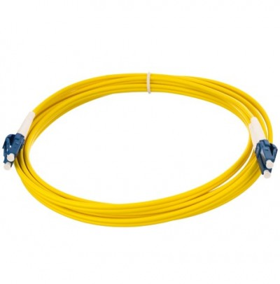 EXTENSÃO ÓPTICA NC - LC/UPC 2MT - MULTIMODE 50/125 OM2  3.0mm, PVC, Yellow, Simplex